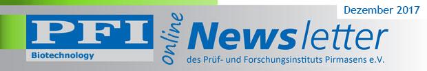 PFI Biotechnology Newsletter / Dezember 2017